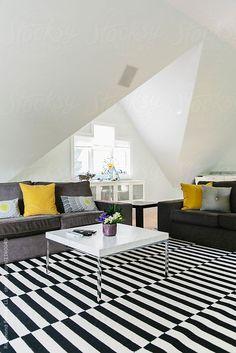 Modern Living Room with Coffee Table by Raymond Forbes LLC - Decor, Rug - Stocksy United Modern Living, The Unit, Contemporary, Living Room, Coffee, Rugs, Table, Photos, Home Decor