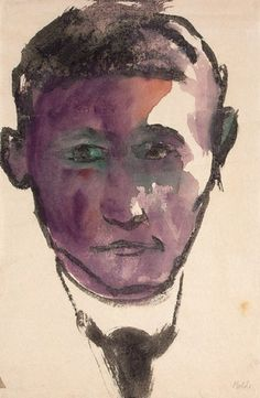 Emil Nolde ~ Portrait of a Man, c.1926
