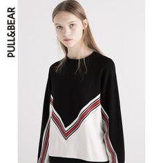 PullAndBear 女士条纹复古运动衫 05591328