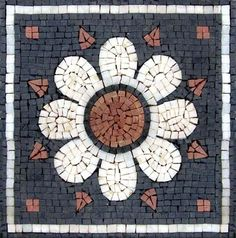 Marguerite Bennett a fully handcrafted mosaic tile accent. Unique and convenient for decorating your living spaces and make them more refined and elegant. Mosaic Flower Pots, Mosaic Pots, Pebble Mosaic, Mosaic Garden, Stone Mosaic, Mosaic Glass, Mosaic Tiles, Glass Art, Mosaic Art Projects