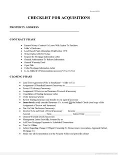 Free Checklist for Acquisitions Printable Real Estate Forms Real Estate Forms, Real Estate Contract, Online Real Estate, Questions In English, Blank Form, Writing A Book Review, Real Estate Templates, Consent Forms, Report Template