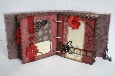 mini album for a swap i joined at LSH Mini Scrapbook Albums, Mini Albums, Arts And Crafts, Paper Crafts, Diy Crafts, Travel Journal Pages, How To Make Paper, Mini Books, Project Ideas