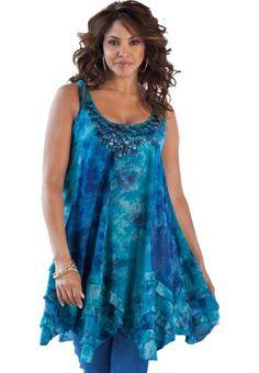 Denim 24/7 Women's Plus Size Tie Dye Tank (Dark Sapphire,16 W) Denim 24/7,http://www.amazon.com/dp/B005IGAZ2O/ref=cm_sw_r_pi_dp_FBA6rb1YAY8CY65X