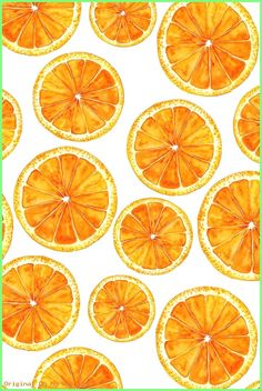 Hand-painted bright orange slices on white background by svetlana_prikhnenko. This watercolor painting of summer oranges is available on fabric, wallpaper, and gift wrap. wallpaper Colorful fabrics digitally printed by Spoonflower - Orange slices Orange Wallpaper, Iphone Background Wallpaper, Background Images, Orange Background, Pastel Background, Background Vintage, Screen Wallpaper, Cute Wallpaper Backgrounds, Pretty Wallpapers