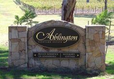Ablington Monument Winery Sign, Pokolbin, New South Wales.   Danthonia Designs