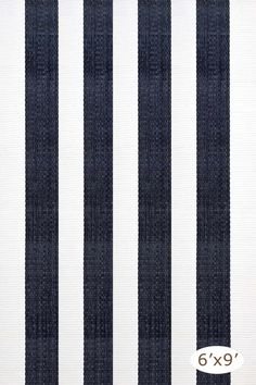 RugStudio presents Dash and Albert Lakehouse Navy / White Flat-Woven Area Rug
