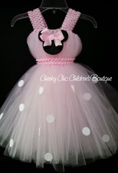 Baby pink Minnie Mouse tutu dress