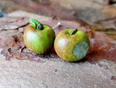 Nadgryzione jabłuszka - wkrętki w vivi4n na DaWanda.com