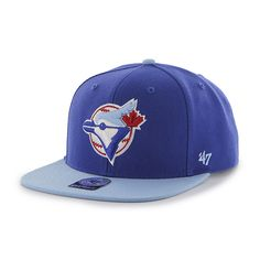 3ac872cfa8b1c Toronto Blue Jays Sure Shot Two Tone Captain Royal 47 Brand Adjustable Hat