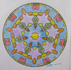 229 Coloring Page, colored in by Miekrea NL - Mrt. 2004 (used: crayons)