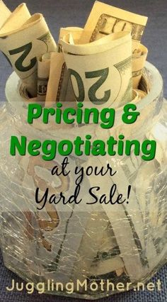 How to price and negotiate at your yard sale