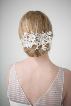 Lace Bridal Hairpins Wedding Hair Accessory por PowderBlueBijoux