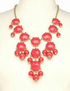 Bold #red #bauble #necklace <3 Get a discount: http://www.studentrate.com/itp/get-itp-student-deals/Charlotte-Russe-10percent-Student-Discount--/0