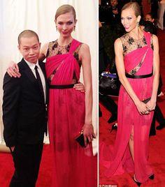 Karlie Kloss In Pink Jason Wu Dress - Met Gala 2012