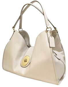 560f0bfd2cdb Carlyle Chalk Gold Chalk Gold White Leather Shoulder Bag