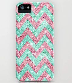 Chevron glitter phone case.. So cute!