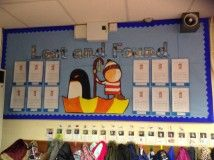 Reception writing display based on the Oliver Jeffers text 'Lost and Found'.
