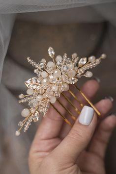 Bridal Hair Chain, Bridal Comb, Bridal Hair Vine, Wedding Veils, Bridal Headpieces, Flower Headpiece Wedding, Wedding Hair Flowers, Wedding Hair Pieces, Hair Jewelry