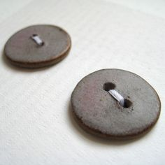 Ceramic buttons in dusky pink (medium) | Flickr - Photo Sharing!