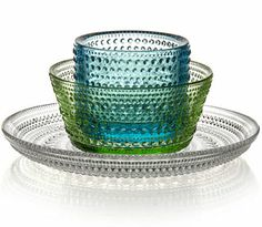 "Iiittala ""Kastehelmi"" Finnish glassware Kitchenware, Tableware, Scandinavian Design, Dinnerware, Decorative Bowls, Glass Art, Candle Holders, Interiors, Ceramics"