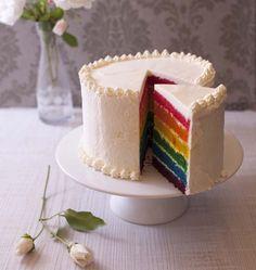 Rainbow cake (gâteau arc-en-ciel) - recette facile - les meilleures recettes de cuisine d'Ôdélices