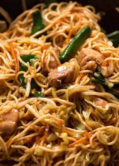 Chow Mein A great Chow Mein comes down to the sauce which is made with soy sauce, oyster sauce, sesame oil, sugar and cornstarch for thickening. Slippery noodles slick with the savoury Chow Mein Sauce is noodle heaven! Chinese Cooking Wine, Asian Cooking, Chinese Food, Chow Mein Au Poulet, Mie Noodles, Chicken Chow Mein, Recipetin Eats, Recipe Tin, Asian Recipes