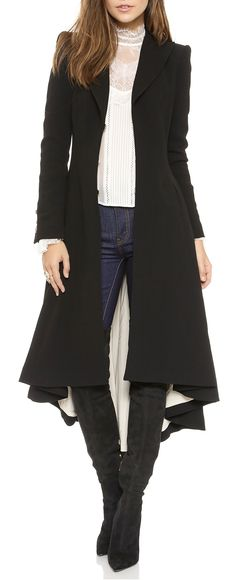 Wool long jacket