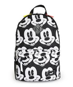 A classic Mickey Mouse print covers this mid-size backpack, made with a large storage compartment and padded laptop sleeve so you can store all your personal items in style.