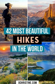 42 most epic places to hike around the world (for all levels). I compiled some of my favorite, most breathtaking hikes I've experienced (and some of the be Hiking Places, Go Hiking, Hiking Tips, Places To Travel, Places To Go, Travel Destinations, Hiking Gear, Winter Hiking, Travel Diys