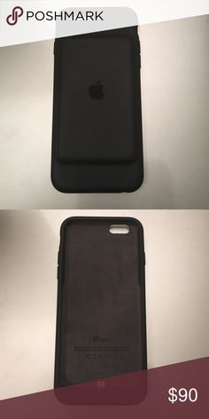 iPhone 6/6s smart phone battery case Brand new!! My husband just bought it a few weeks ago and then upgraded his phone so he can't use it now. Phone case provides extra battery life up to 18 hours of internet or 25 hours talk time. Charcoal grey color Accessories Phone Cases