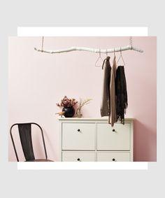 super easy DIY branch hanger