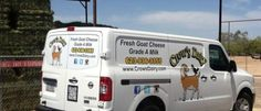 #goatvet likes the way this US goat dairy farm advertises on its van