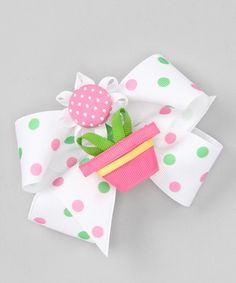 Look what I found on #zulily! Pink Flowerpot Clip Set by Picture Perfect Hair Bows #zulilyfinds