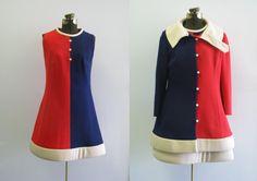 Lilli Ann dress and jacket set 1960's vintage mod dress sold by #ProseAndPalaver on etsy $310