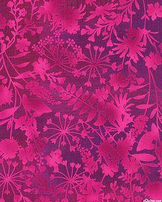 Mariposa Meadow - Ferns & Petals - Magenta