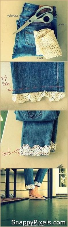 Easy DIY ideas with Old Denim Jeans - Snappy Pixels
