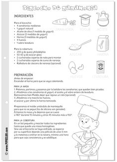 BIZCOCHO DE ZANAHORIA #bizcocho #zanahoria #worksheet