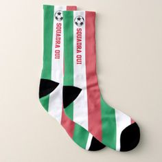 Calcio Itaiano and Your Text Socks  $21.95  by WRAPPED_TOO_TIGHT  - cyo diy customize personalize unique