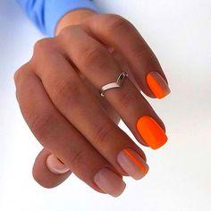 Discover new and inspirational nail art for your short nail designs. Nail Art Designs, Short Nail Designs, Bright Nail Designs, Orange Nail Designs, Neon Nail Art, Neon Nails, Neon Orange Nails, Orange Nail Art, Gold Nails