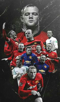 Wayne Rooney of Man Utd wallpaper. Manchester United Wallpaper, Manchester United Football, Manchester United Rooney, Wayne Rooney, Cristiano Ronaldo, Messi, Soccer Art, Sports Graphic Design, Football Wallpaper