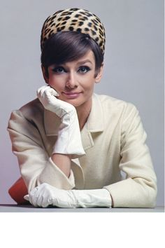 Audrey Hepburn, 1965 --I have one like this and wear it all the time---I love it