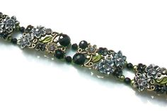 Beaded Flowered Bracelet Downton Abbey by SeagullSmithJewelry, $22.00