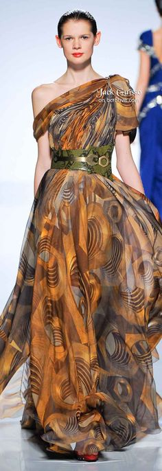Jack Guisso Spring 2011 Couture - I love this gown. I am not crazy about the belt with it however