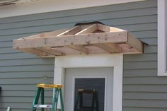 build a front door how to build a front door overhang bricks honey building the back your own awning prefabricated build portico over front door Home Renovation, Home Remodeling, Front Door Overhang, Marquise, Side Door, Back Doors, Home Projects, Exterior Design, Home Improvement