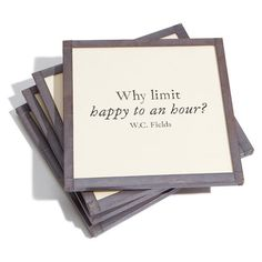 Ben's Garden 'Why Limit Happy' Coaster Set found on Polyvore