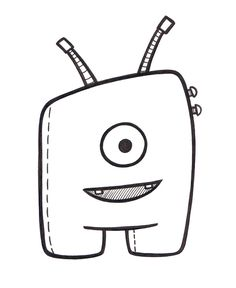 Imgs For > Doodle Characters Cute Monsters Cute Monsters Drawings, Easy Cartoon Drawings, Cartoon Drawing Tutorial, Easy Drawings, Cute Doodle Art, Doodle Art Designs, Doodle Art Drawing, Doodle Sketch, Doodle Monster