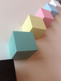 Colors Wooden Knobs,Geometric Knobs,Modern Decor,Drawer Handles,Brass Kitchen,Square Knobs