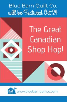I am excited to be a part of #greatcanadianshophop from @canadianmqc and we are proud to be amongst the stores being highlighed this month for Canadians to have acces to great fabric. We will be highlighted on Oct 24, mark you calendars! You will not want to miss this!