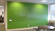plexi glass dry erase panels -- an awesome idea instead of white board or chalk paint which can be messy!