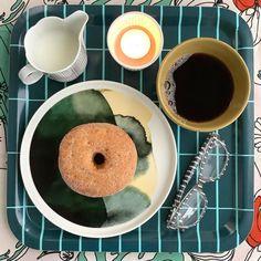 Marimekko, Doughnut, Kitchen, Desserts, Instagram, Food, Tailgate Desserts, Cooking, Deserts